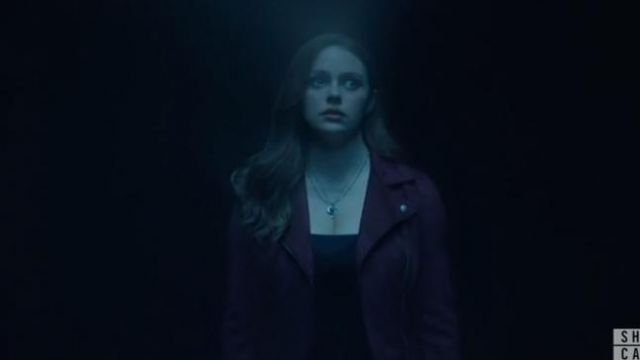 Blank NYC purple suede moto jacket outfit worn by Hope Mikaelson (Danielle Rose Russell) in Legacies Season 2 Episode 1 - TV Show Outfits and Products
