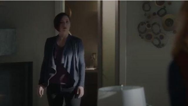 Blanknyc Faux Suede Drape Front Jacket outfit worn by Alex Danvers (Chyler Leigh) in Supergirl Season 05 Episode 02 - TV Show Outfits and Products