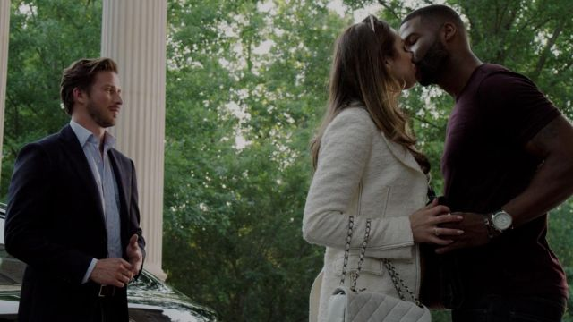 Blazer tweed Fallon Carrington (Elizabeth Gillies) seen in Dynasty (Season 2 Episode 1) - TV Show Outfits and Products