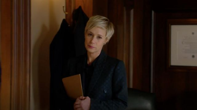 Blazer with big polka dot Paul Smith outfit worn by Bonnie Winterbottom (Liza Weil) seen in Murder Season 5 Episode 6 - TV Show Outfits and Products