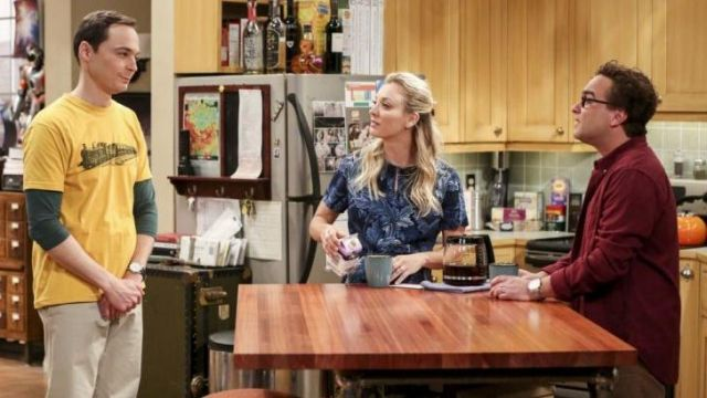 Blouse Marc by Marc Jacobs outfit worn by Penny (Kaley Cuoco) seen in The Big Bang Theory S12 Episode 2 - TV Show Outfits and Products