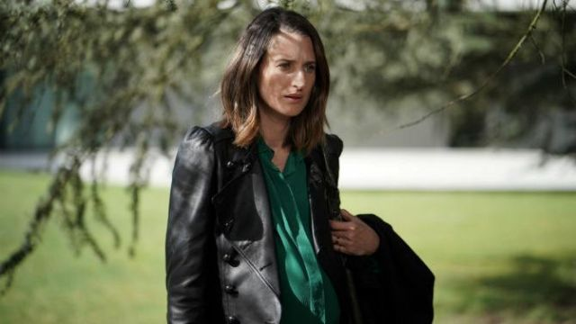 Blouse in green outfit worn by Andrea Martel (Camille Cottin) seen in Ten Percent Season 3 Episode 1 - TV Show Outfits and Products