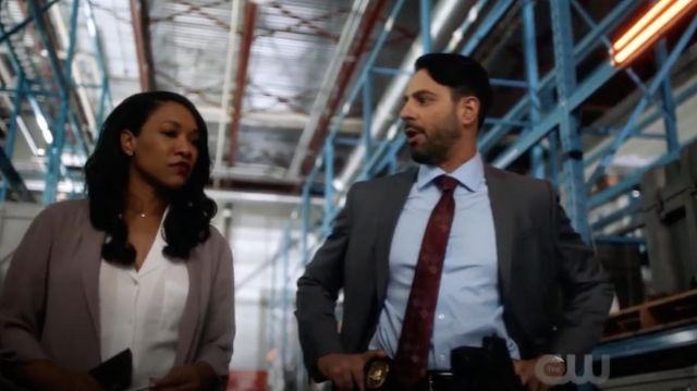 Blouse in white 'Shawna' by Wilfred Free range by Iris West (Candice Patton) seen in Flash Season 5 Episode 2 - TV Show Outfits and Products