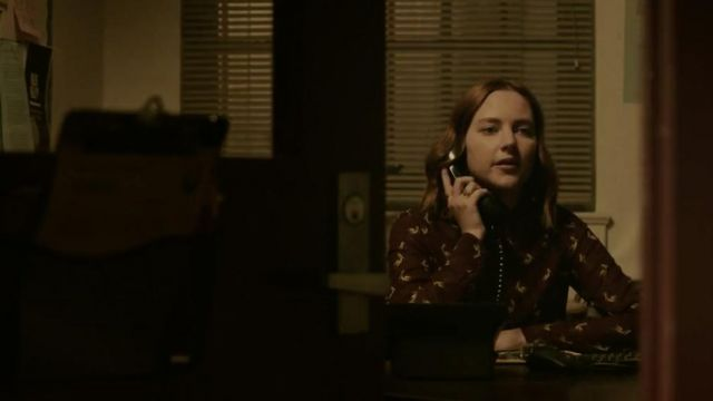 Blouse pelican Purple (Haley Ramm) seen in Light as a Feather Season 1 Episode 3 - TV Show Outfits and Products