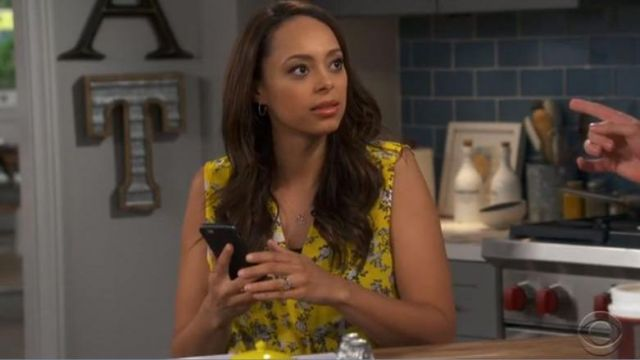Blouse with yellow flowers Clear (Amber Stevens West) seen in Happy Together S1E6 - TV Show Outfits and Products