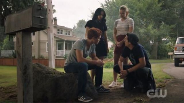 Blue Gazelle Sneakers outfit worn by Archie Andrews (KJ Apa) in Riverdale Season 4 Episode 1 - TV Show Outfits and Products