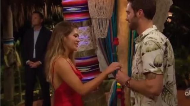 Blue Life Haded Dress outfit worn by (Caelynn Miller-Keyes) in Bachelor in Paradise (S06E03)