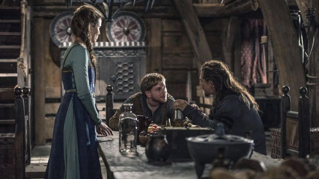Blue dress of Gisela (Peri Baumeister) seen in The Last Kingdom Season 2 Episode 5 - TV Show Outfits and Products