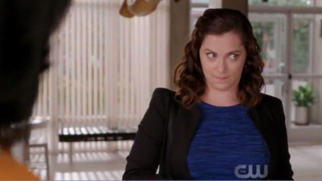 Blue dress of Rebecca, Bunch (Rachel Bloom) seen in Crazy Ex-Girlfriend (Season 4 Episode 3) - TV Show Outfits and Products
