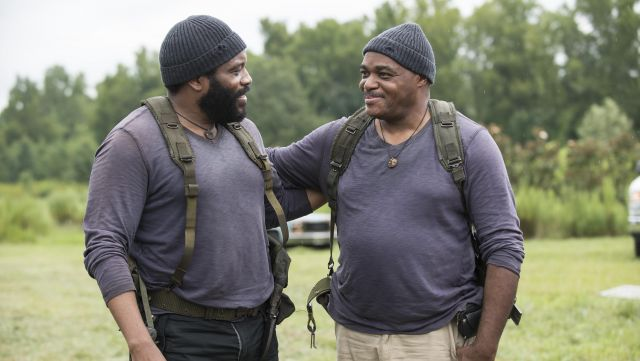 Fashion Trends 2021: Blue hat of Tyreese Williams (Chad Coleman) seen in The Walking Dead Season 5 Episode 9
