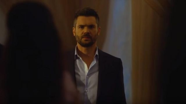 Blue shirt of Frank Delfino (Charlie Weber) seen in Murder Season 5 Episode 1 - TV Show Outfits and Products