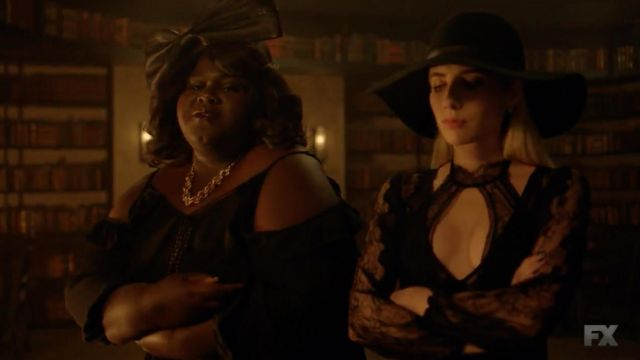 Body black lace, Thistle & Spire outfit worn by Madison Montgomery (Emma Roberts) seen in American Horror Story Season 8 Episode 5 - TV Show Outfits and Products