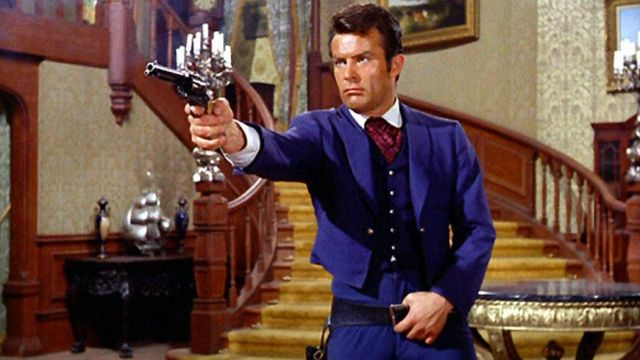 Bolero jacket blue of James West (Robert Conrad) seen in The mysteries of the West - TV Show Outfits and Products