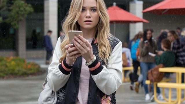 Bomber Max Studio of Karolina Dean (Virginia Gardner) seen in Marvel's Runaways Season 1 Episode 1 - TV Show Outfits and Products