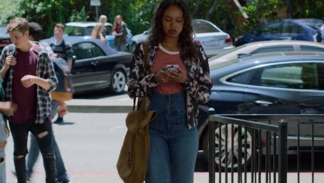 Bomber-flower Jessica Davis (Alisha Boe) seen in bomber 13 Reasons Why Season 2 Episode 2 - TV Show Outfits and Products