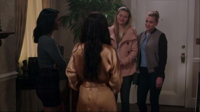 Bomber jacket Zara Betty Cooper (Lili Reinhart) seen in Riverdale Season 1 Episode 7 - TV Show Outfits and Products