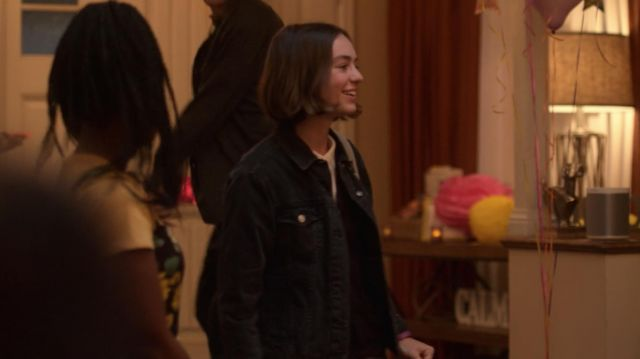 Bomber jacket in black jeans, Levi's jeans outfit worn by Casey Gardner (Brigette Lundy-Paine) seen in Atypical Season 2 Episode 9 - TV Show Outfits and Products
