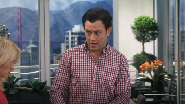 Bonobos Check Republic Slim Fit Gingham Sport Shirt outfit worn by Josh Kaminski (Jonathan Sadowski) in Young & Hungry (S01E07) - TV Show Outfits and Products