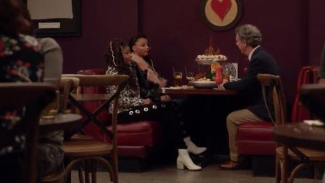 Fashion Trends 2021: Boots white nail Skylar Forster (Halle Bailey) seen in Grown Ish Season 1 Episode 6