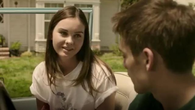 Brandy Melville Forget Me Not Aleena Tee Shirt outfit seen on McKenna Brady (Liana Liberato) in Light as a Feather (S01E04) - TV Show Outfits and Products