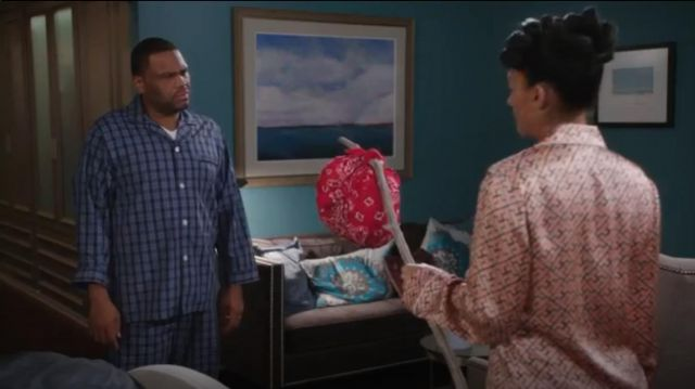 Brooks Brothers Buffalo Check Pajamas outfit worn by Andre 'Dre' Johnson (Anthony Anderson) in black-ish (S02E09) - TV Show Outfits and Products
