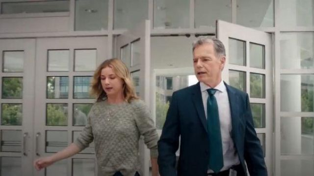 Brooks Brothers Green/grey Diamond Textured Blazer outfit worn by Nicolette Nevin (Emily VanCamp) in The Resident Season 03 Episode 02 - TV Show Outfits and Products