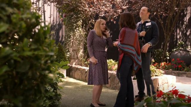 Brooks Brothers Lattice Print Jersey Faux Wrap Dress outfit seen on Amy Brookheimer (Anna Chlumsky) in Veep (S07E02) - TV Show Outfits and Products