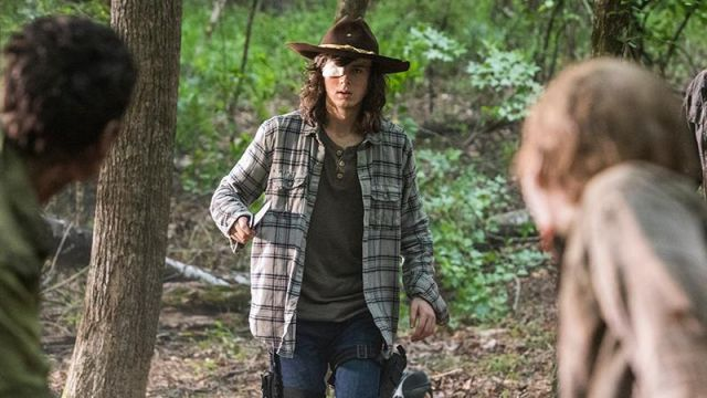 Brown hat outfit worn by Carl Grimes (Chandler Riggs) seen in The Walking Dead Season 8 Episode 6 - TV Show Outfits and Products