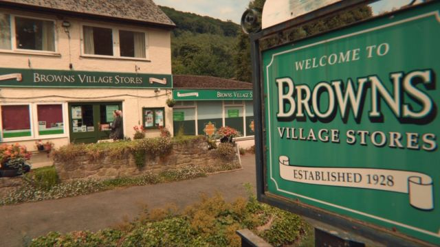 Fashion Trends 2021: Browns Stores (Londis) in Llandogo, UK as seen in Sex Education S01E02