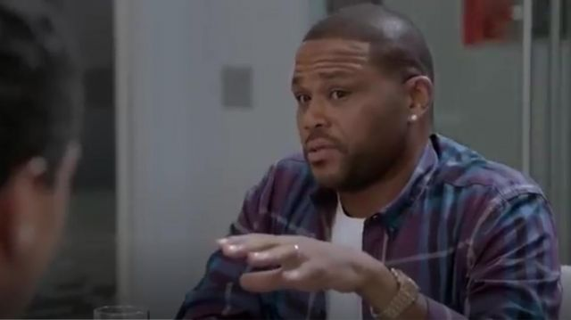 Burberry Brit Trim Fit Check Sport Shirt outfit worn by Andre 'Dre' Johnson (Anthony Anderson) in black-ish (Season01 Episode07) - TV Show Outfits and Products