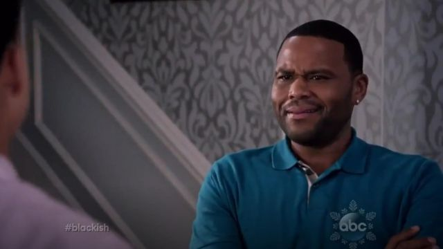 Burberry Short Sleeve Pique Polo Shirt outfit worn by Andre 'Dre' Johnson (Anthony Anderson) in black-ish (S02E08) - TV Show Outfits and Products