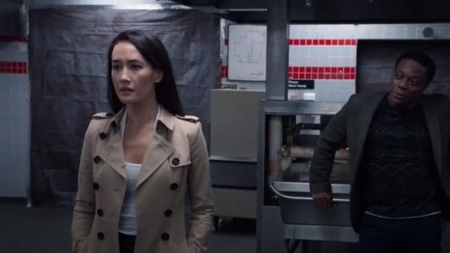 Burberry X-Long Sandringham Trench outfit worn by Hannah Wells (Maggie Q) in Designated Survivor (Season 03 Episode 03) - TV Show Outfits and Products