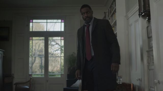 Burgundy Tie outfit worn by DCI John Luther (Idris Elba) as seen in Luther (S05E03) - TV Show Outfits and Products