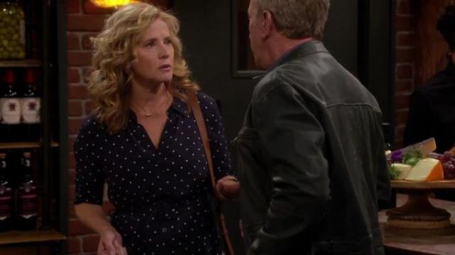 Button Front Polka Dress worn by Kristin Baxter (Amanda Fuller) in Last Man Standing Season 8 Episode 3 - TV Show Outfits and Products