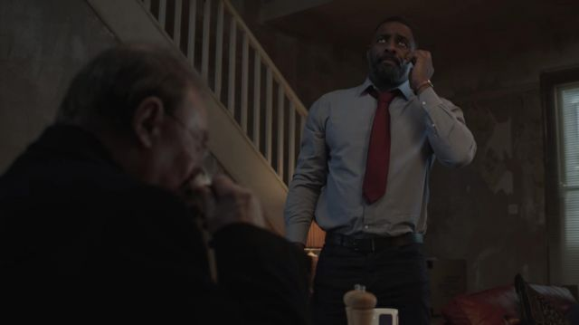 Button Grey Shirt outfit worn by DCI John Luther (Idris Elba) as seen in Luther (S05E01) - TV Show Outfits and Products