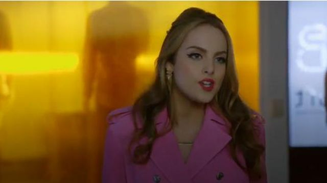 Calvin Klein 205W39NYC Suede Trench Coat outfit seen on Fallon Carrington (Elizabeth Gillies) in Dynasty (S01E18) - TV Show Outfits and Products
