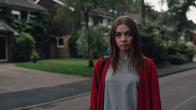 Fashion Trends 2021: Cardigan red Alyssa (Jessica Barden) seen in The End of the F***ing World Season 1 Episode 1