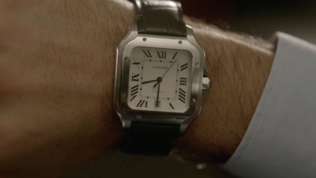 Cartier watch Santos outfit worn by Hicham (Assaâd Bouab) seen in Ten Percent Season 3 Episode 1