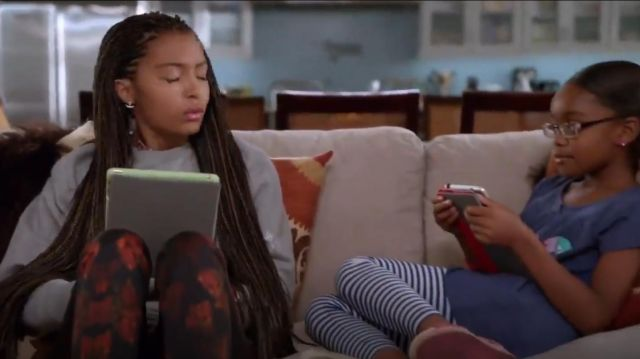 Carven Long Sleeve Sweatshirt outfit worn by Zoey Johnson (Yara Shahidi) in black-ish (S02E01) - TV Show Outfits and Products
