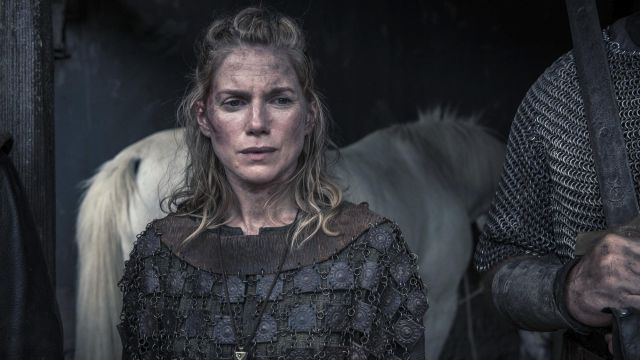 Chainmail Hild (Eva Birthistle) seen in The Last Kingdom Season 2 Episode 4 - TV Show Outfits and Products