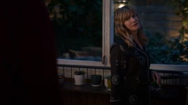 Chalmers Black Frida Pajamas outfit worn by Elsa Gardner (Jennifer Jason Leigh) in Atypical Season 3 Episode 5 - TV Show Outfits and Products