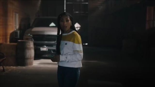 Champion UO Exclusive Colorblock long sleeve tee outfit worn by Peri Boudreaux (Adriyan Rae) in Light as a Feather Season 2 Episode 16 - TV Show Outfits and Products