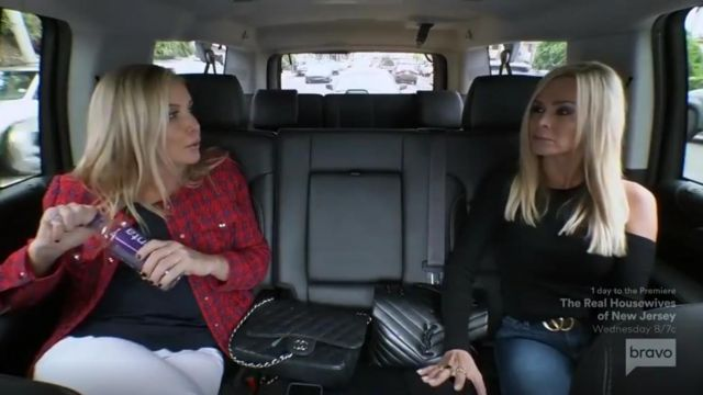 Chanel Gold Tone Metal Black Large Classic Handbag outfit worn by (Shannon Beador) in The Real Housewives of Orange County Season 14 Episode 14 - TV Show Outfits and Products