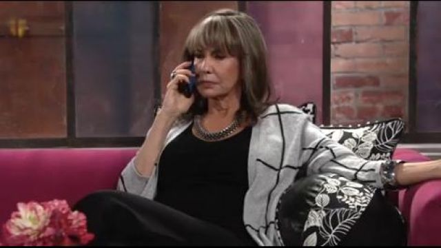 Charter club cashmere duster cardigan outfit worn by Jill Foster Abbott (Jess Walton) as seen on The Young and the Restless October 11, 2019 - TV Show Outfits and Products