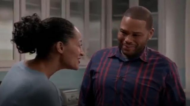 Checked Shirt outfit worn by Andre 'Dre' Johnson (Anthony Anderson) in black-ish (Season01 Episode08) - TV Show Outfits and Products