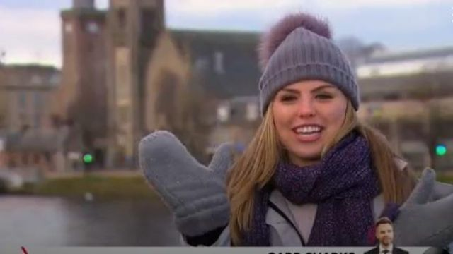 Cheryl Speckled Wool Rectangle Scarf outfit worn by Hannah Brown in The Bachelorette (Season15 Episode05) - TV Show Outfits and Products