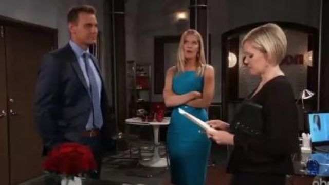 Chiara Boni La Petite Robe Maria Iris Dress outfit worn by Michelle Stafford as seen in General Hospital June 12,2019 - TV Show Outfits and Products