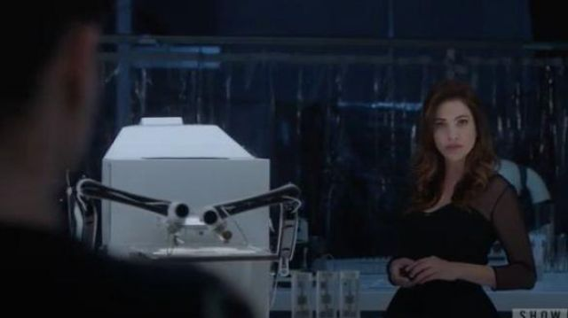 Chiara Boni la petite robe mesh v neck peplum midi dress outfit worn by Andrea Rojas (Julie Gonzalo) in Supergirl Season 05 Episode 02 - TV Show Outfits and Products