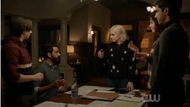 Chinti & Parker Star Cashmere Hoodie outfit worn by Olivia Moore (Rose McIver) in iZombie (Season 05 Episode 06) - TV Show Outfits and Products