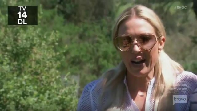 Chloe Eyewear Heart Shaped Sunglasses outfit worn by Braunwyn Windham in The Real Housewives of Orange County Season 14 Episode 14 - TV Show Outfits and Products